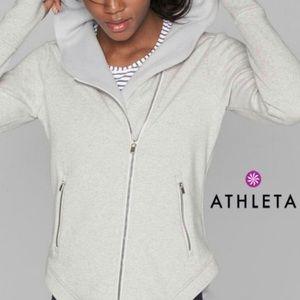Athleta Cozy Karma Asymmetrical Zip Hoodie